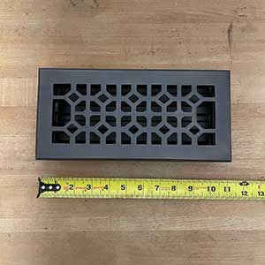 HRV Industries [01-410-C-10] Brass Decorative Floor Register Vent Cover - Legacy Classic