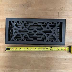 HRV Industries [03-614-A-19] Cast Iron Decorative Floor Register Vent Cover - Victorian