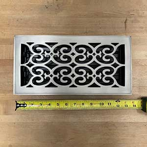 HRV Industries [06-612-C-15] Brass Decorative Floor Register Vent Cover - Scroll