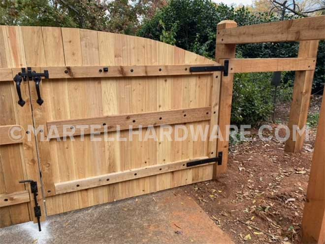 Double Driveway Gate featuring Coastal Bronze Hardware